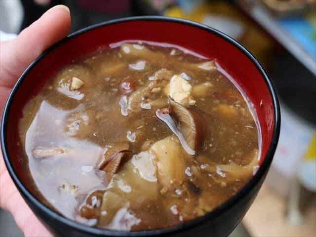 草津温泉キノコ汁