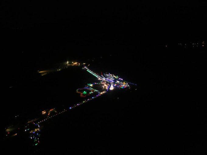 榛名湖ループウェイから見たイルミネーション