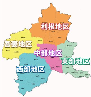 群馬温泉地 マップ