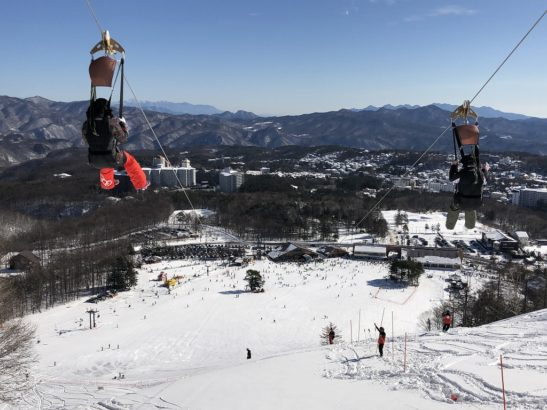 草津温泉スキー場 雪景色