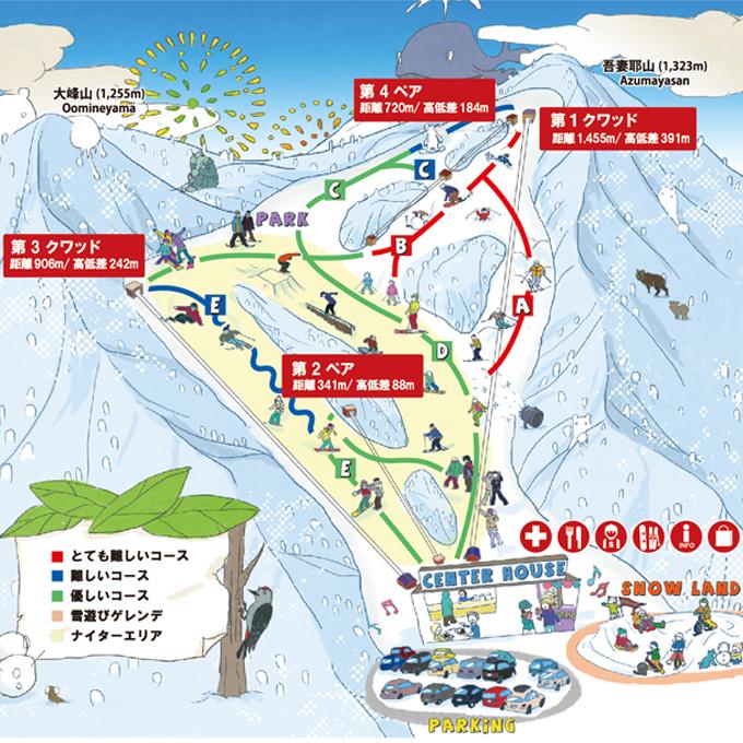 ノルン水上スキー場 ゲレンデ コース