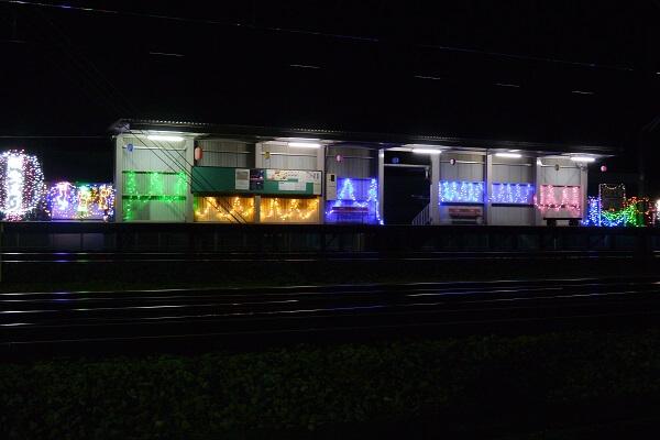 下新田駅のイルミネーション
