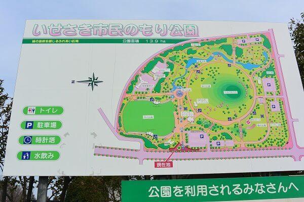 いせさき市民のもり公園 マップ