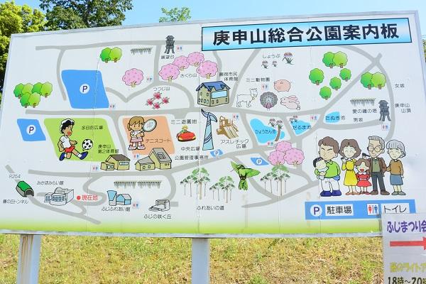 ふじの咲く丘 地図