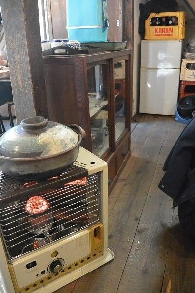 椿食堂 ストーブ