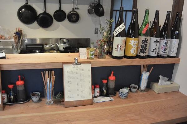 椿食堂 カウンター