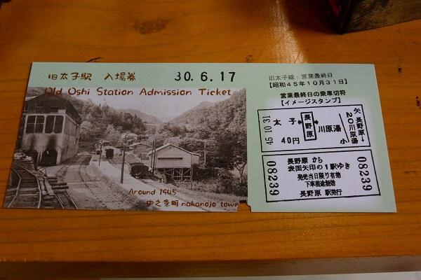 太子駅 チケット