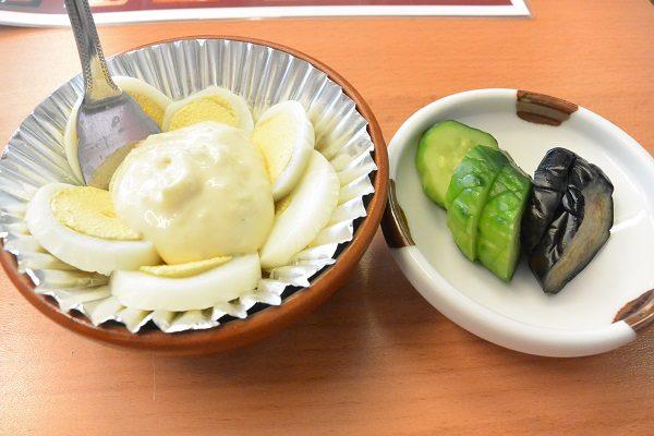 板鼻館 ゆで卵とマヨネーズとおしんこ