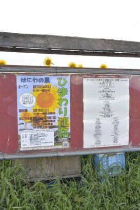 ひまわり迷路案内ポスター はにわの里 ひまわり 高崎市