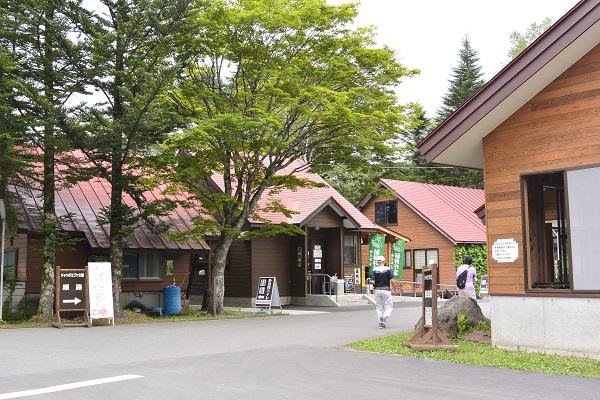 売店周辺の様子 チャツボミゴケ公園 紅葉 苔