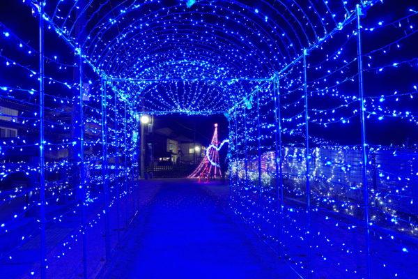 部温泉イルミネーション 光のトンネル