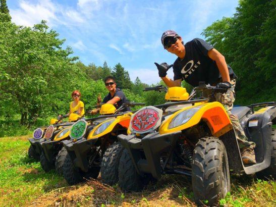 ATV四輪バギー 星の降る森 沼田市 キャンプ場