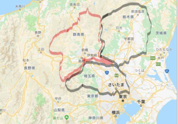 三県境 地図