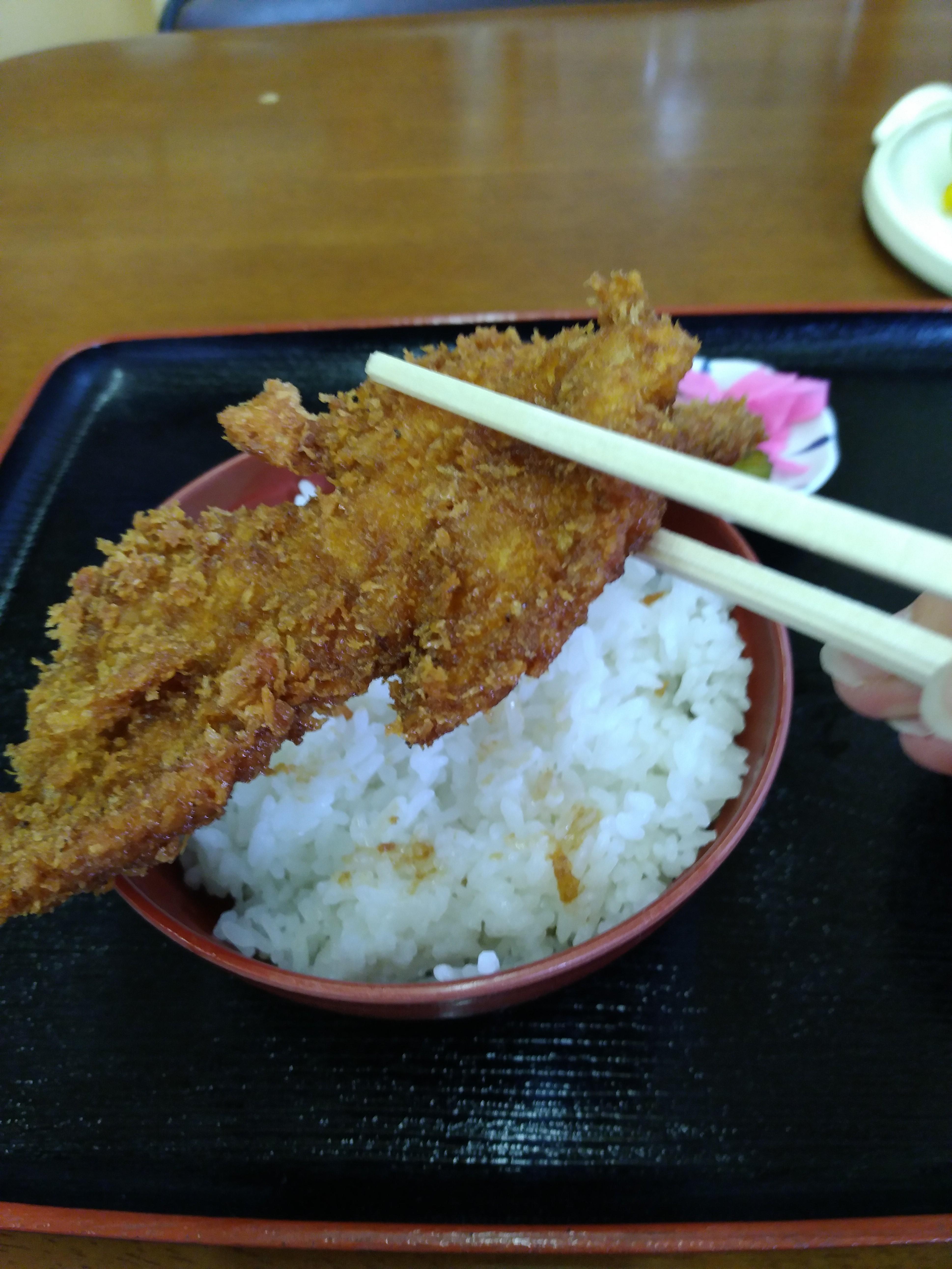 ソースカツ 箸