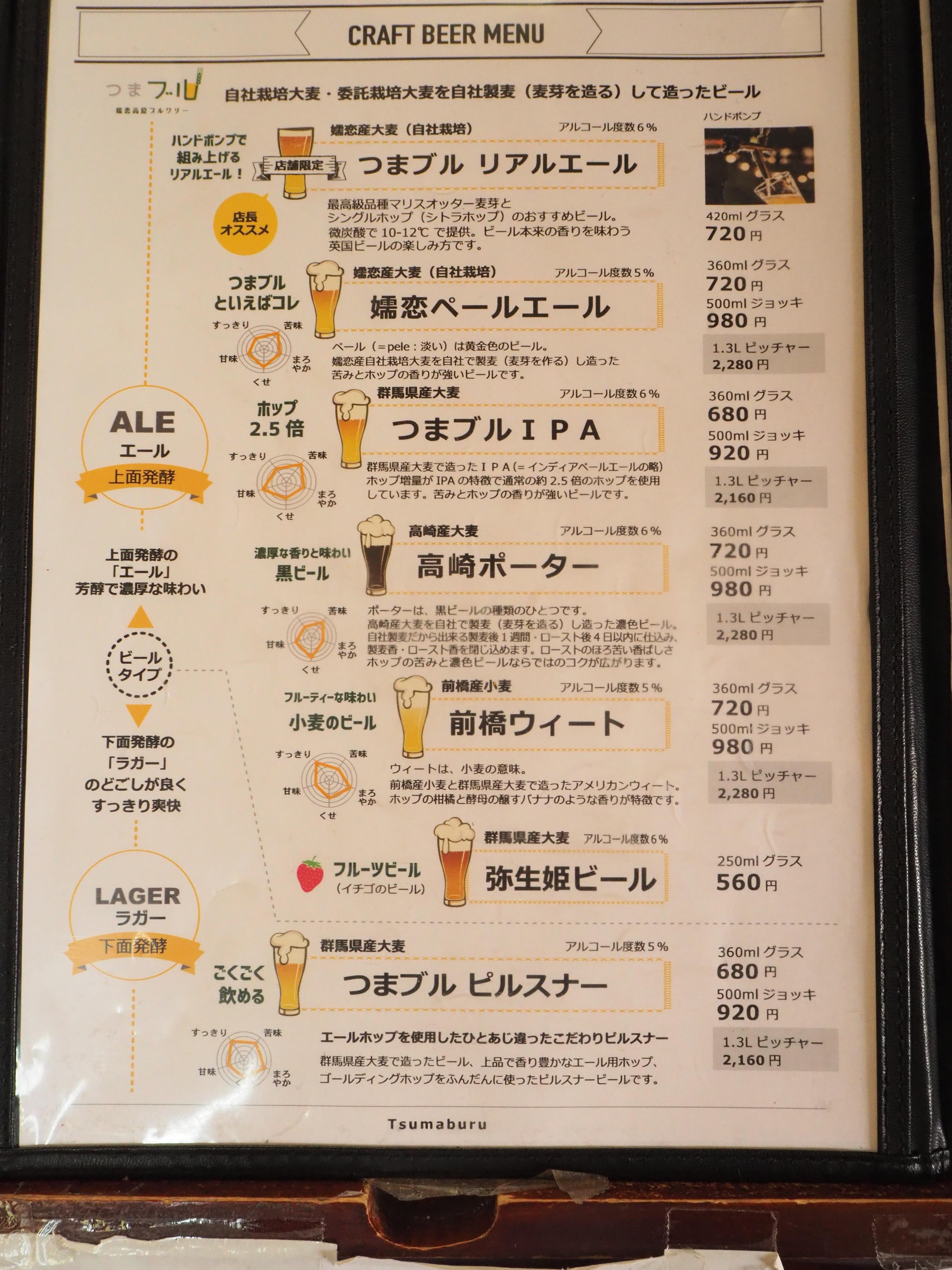 レストラン メニュー3