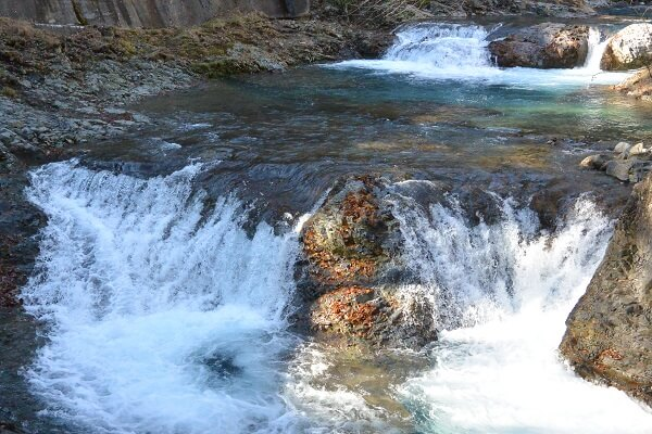 甌穴群 川
