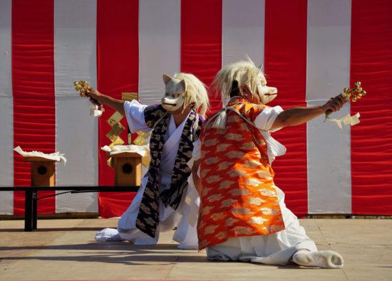 甘楽町観光フォトコンテスト 白狐の舞