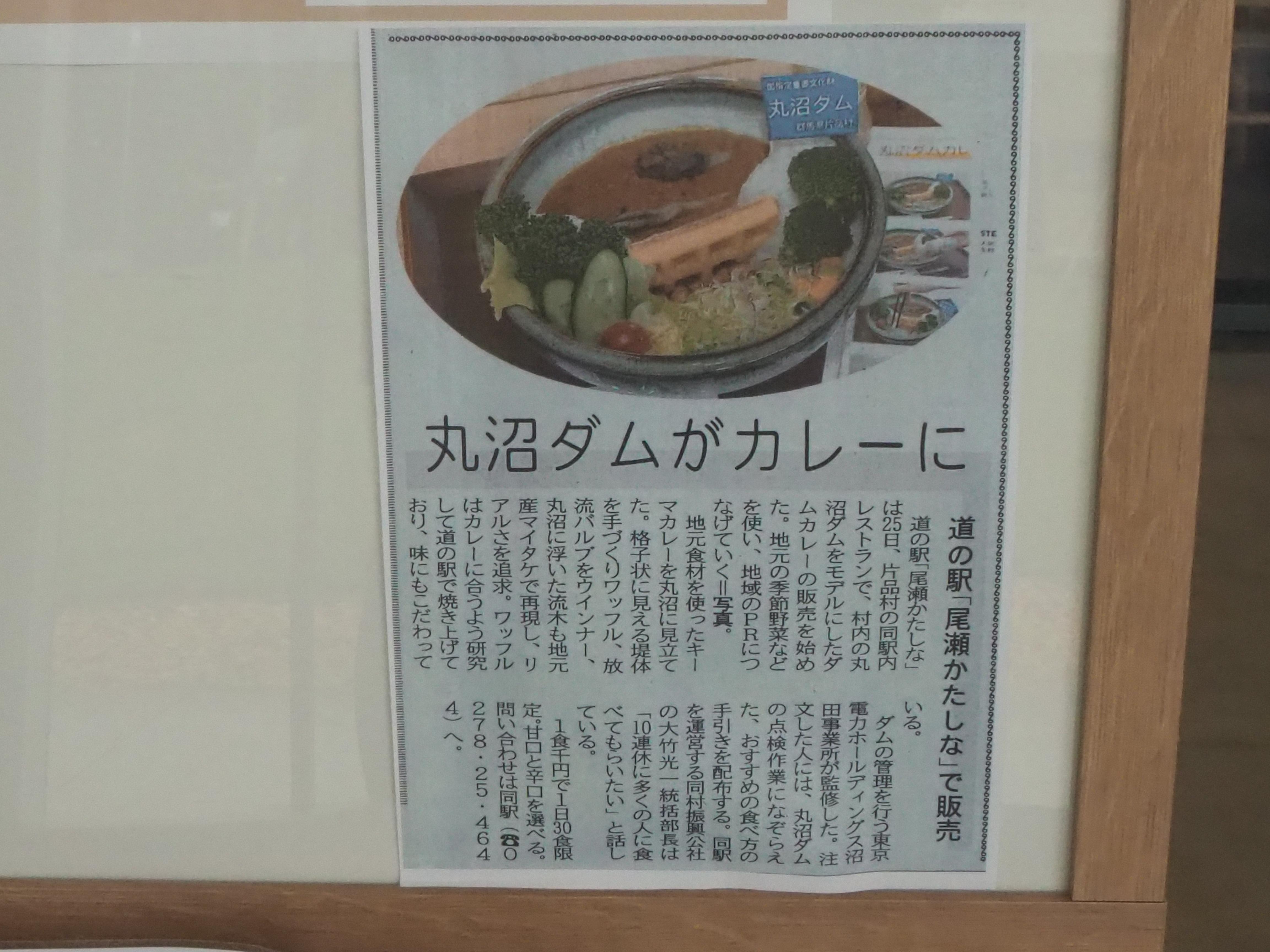 丸沼ダムカレー 新聞