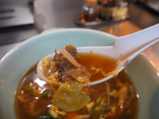 群馬県藤岡市 焼肉宝来軒 肉スープ