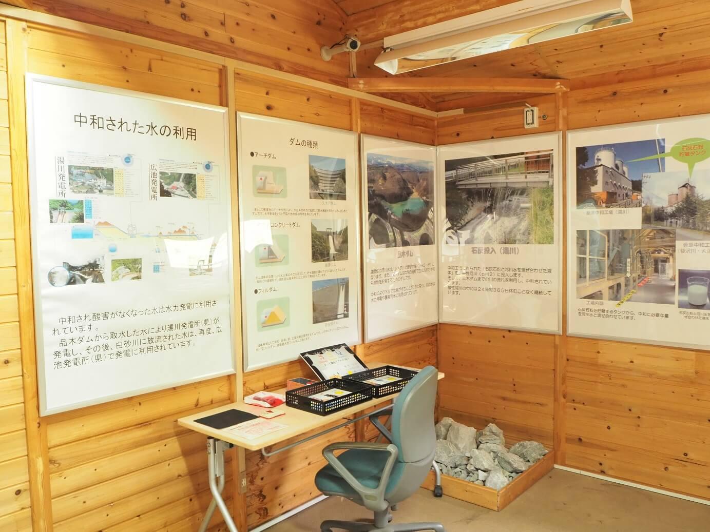 奈良俣ダム ダム資料館 展示