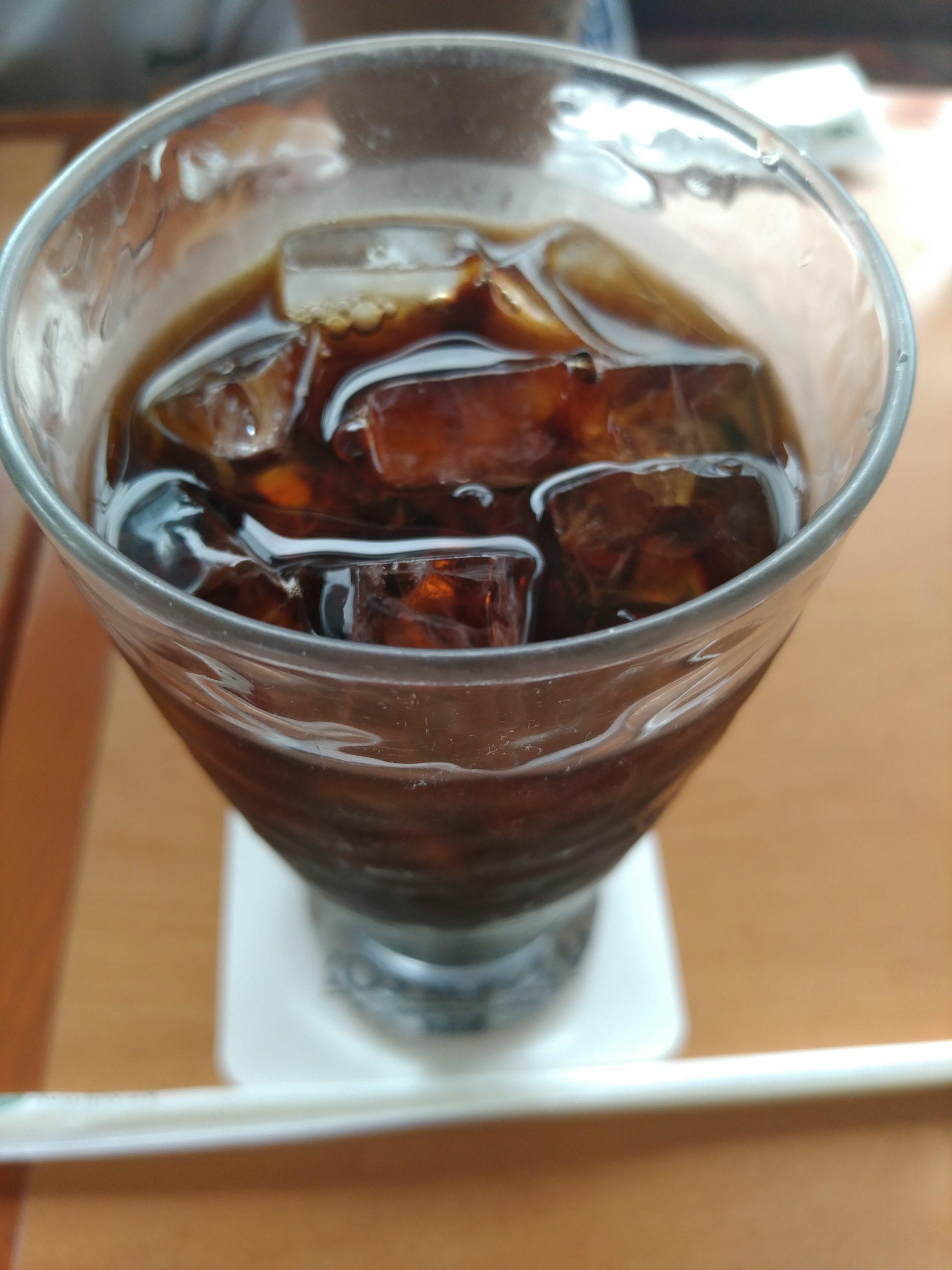 厚切りシナモントースト 珈琲館 アイスコーヒー