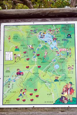 県立赤城公園から見る風景案内図