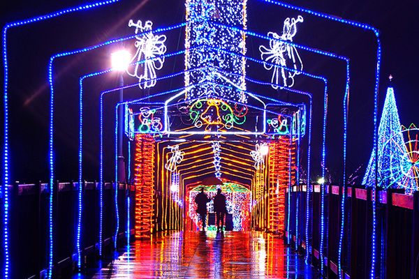 いせさきイルミネーション2019in華蔵寺光のトンネル 群馬 クリスマス いせさきイルミネーション
