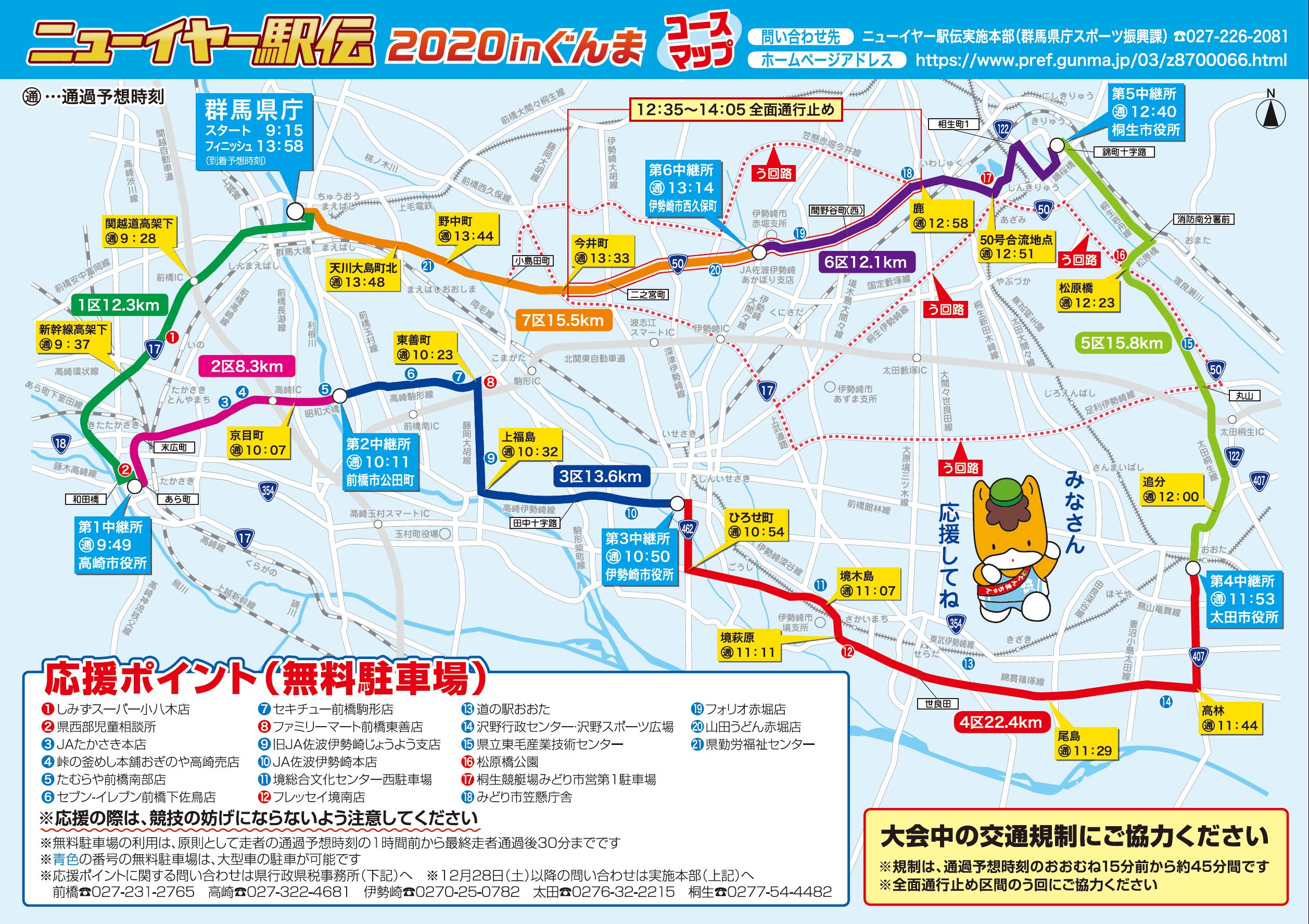 交通規制 ニューイヤー駅伝2020