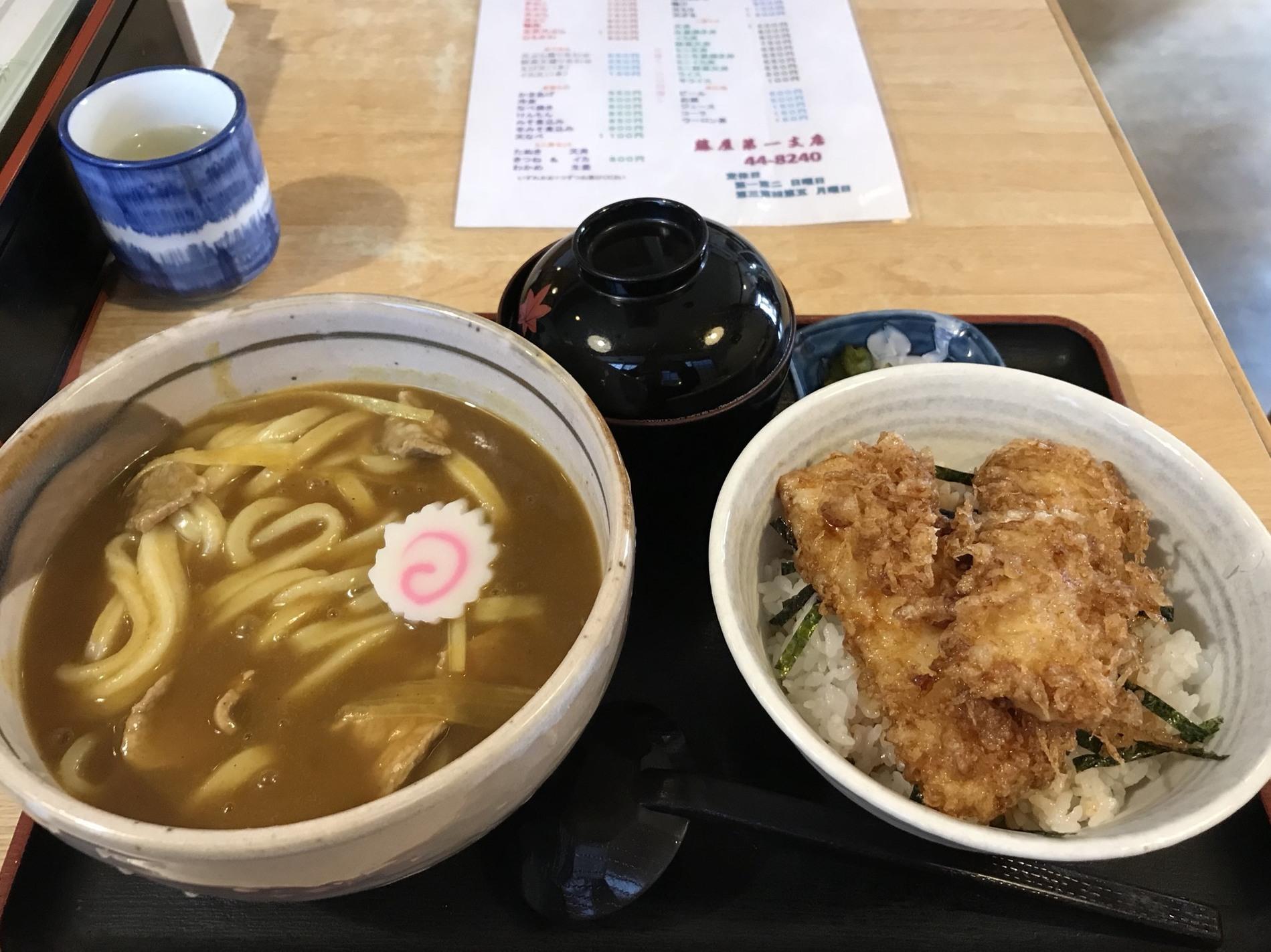 藤屋第一支店 カレーうどんとミニイカ天丼