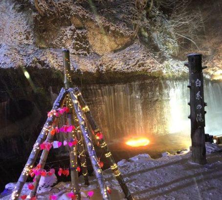 白糸の滝 クリスマスライトアップ
