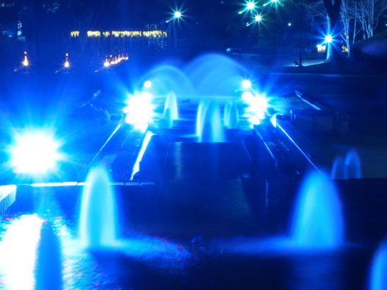 つつじが岡公園 イルミネーション・ライトアップ 幻想的