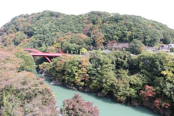 高津戸峡 はねこし橋 美しい