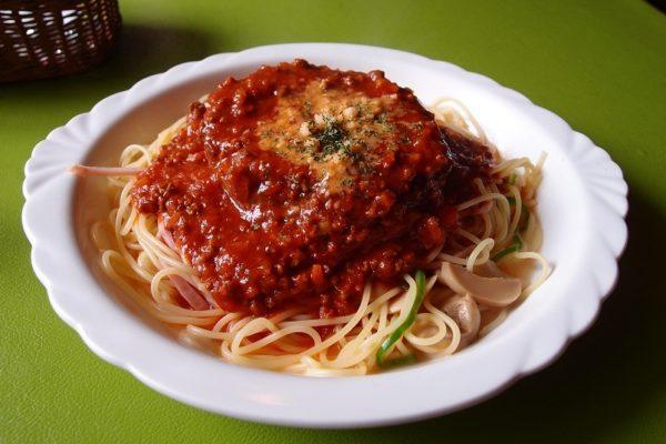 とすかあな ミートソーススパゲッティ