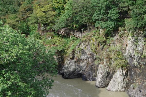 高津戸峡 はねこし橋 渡良瀬川