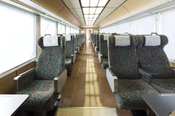 春の臨時列車 ゆったり広々3列シート