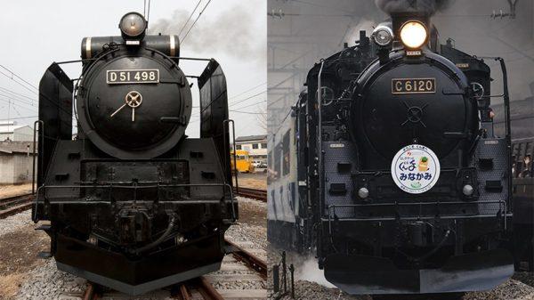 春の臨時列車 「D51 498」と「C61 20」
