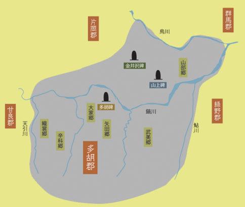 上野三碑 地図