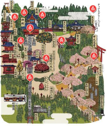 冠稲荷神社 境内図