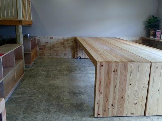 福ベーグル テーブル