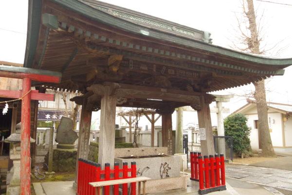 伊勢崎神社×はぐちさんコラボキーホルダー 伊勢崎神社の中