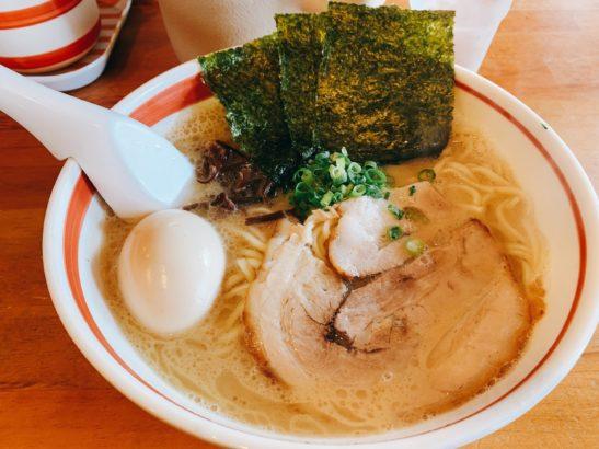 光☆MENJI 豚骨味玉中太麺1