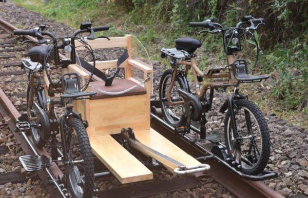 東吾妻自転車型トロッコ コース