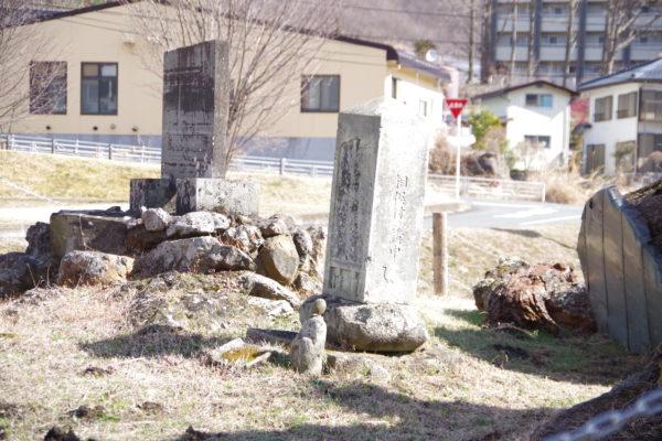 謙信のさかさ桜 石碑