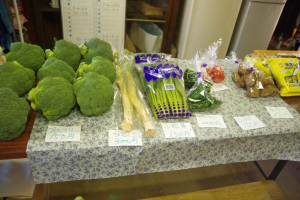 旧本間酒造 野菜市場に並んだ野菜2