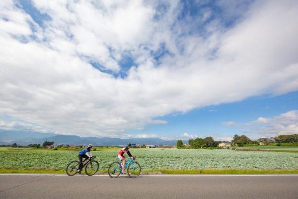 前橋AKAGIサイクルスタンプラリー サイクリング風景