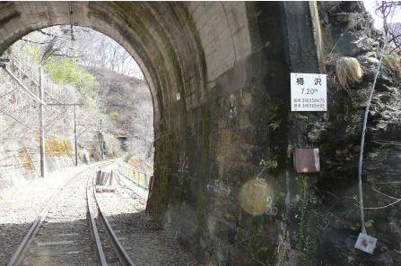 東吾妻自転車型トロッコ 樽沢トンネル