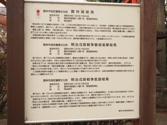 尾曳稲荷神社 市指定重要文化財の案内看板1