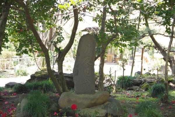 進雄神社 月夜見命と書かれた碑