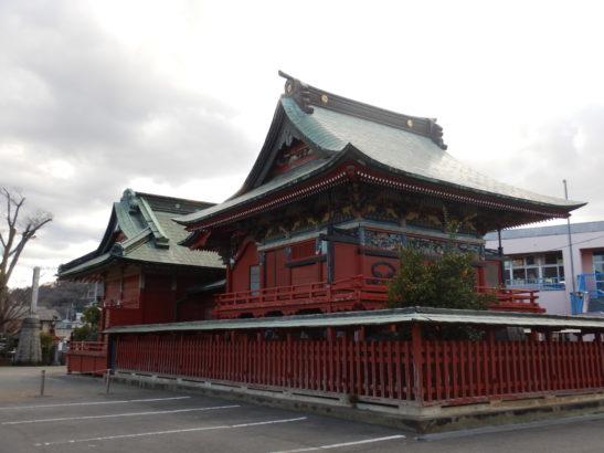 小祝神社 本殿の背面