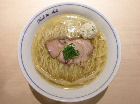 高崎のおすすめラーメン 中華蕎麦あお木の煮干しらーめん